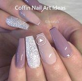 25 + ›20 Trendy Coffin Nail Art Designs #coffinnails #nailideas   – Trendy Nails