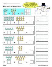 Grade 1 Addition Sample Worksheet Making Math Visual Free Math Free Math Worksheets Kids Math Worksheets