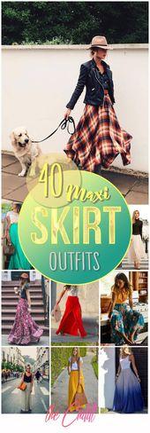 40 tenues maxi jupe qui vous permettront de vous habiller à la perfection   – Kleding