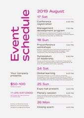 Schedule Event Poster Template Event Poster Template Event