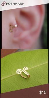 Fake cartilage ear cuff To wear this trendy ear cuff … – Edeline Approx.