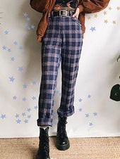 Street Style Subgrain Plaid Casual Pants – ~°•Clothes•°~
