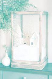 diy-christmas-village-terrarium #christmasideas #diycrafts #tweencrafts #funnybi …