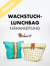 Free sewing instructions for a lunch bag with oilcloth via Makerist magazine …  – Handarbeit