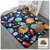 Animals And Stars Plush Carpet Anti Slip Floor Rug