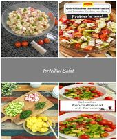 Recipe – Tortellini salad – delicious summery! Suitable for summer and these …