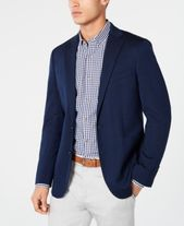 Cole Haan Men's Grand .OS Wearable Technology Slim-Fit Stretch Navy Textured Blazer & Reviews – Blazers & Sport Coats – Men – Macy's