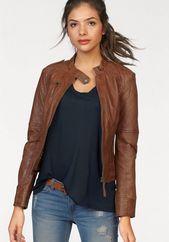 Kaufen Sie Ajc Lederjacke Mit Trendigem Stehkragen Und Schnallendetail Online Outfits Ropa Casual Moda