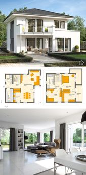 Prefabricated house city villa modern with hipped roof, bas …