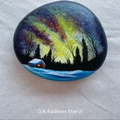 7 Rock Painting Ideas For Home Decor - DIY Rock Art - Northern Lights