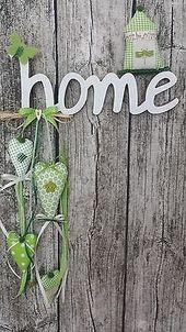 Türkranz Türschild Home Vogel Herz grün Girlande Sommer Landhaus Tilda