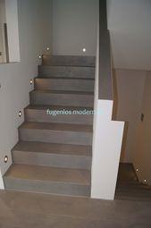 Eine Treppe aus Beton,mit einer Versiegelung zum t…