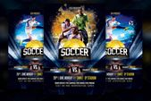 Ad: Soccer Flyer Template by Basez Flyers on Creative Market. Project Features -…