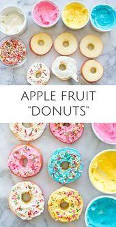 EASY APPLE FRUIT DONUTS: GESUNDER KINDER-SNACK   – gesunde Snaks, Süßigkeuten, etc.