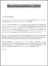 RecommendationLetterForEmploymentForAFriend  Reference