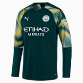 Man City Men's Replica Goalkeeper Jersey | Ponderosa Pine-Cyber Yellow | PUMA Manchester City | PUMA United Kingdom