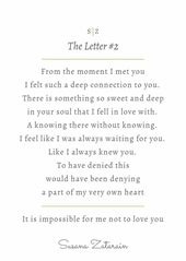 The Letter  When I Felt Overwhelmed With Love For You  Written
