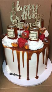 Hennessy Tropfenfanger Kuchen Ed S 45th Birthday 45th