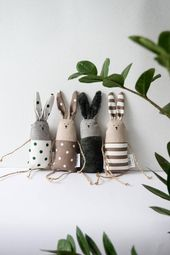 Mini Bunny Toy, Nordic Forest Theme Stuffed Small Bunny Stuffed Toy, Soft Cotton Fabric Baby Toy Toy, Baby Toy, Unisex