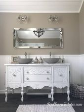 BATHROOM VANITY Double or Single We Custom Convert from Antique Furniture For You – Victorian Farmhouse Renovation 50″ to 62″ Wide Long   – Organisierende – Einrichtungs Ideen für zuhause