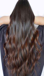 32 Schöne und heißeste Trends von dunkelbraunem Haar 2019 Dunkelbraune Haarfarbe …