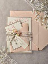 Invitations  einladungskarten blumen hochzeit geburtstag pfirsich