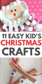 Dies sind 11 einfache Weihnachtsbastelarbeiten, die Kinder in der Schule, in der Kirche, im Kindergarten usw. anfertigen können.   – kids christmas
