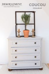 Chest of drawers with chalk paint