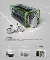 T-Bike vending machine crams 32 bikes in one parking spot