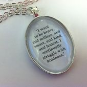 Divergent inspired four'stattoo explanation quote necklace – quotes