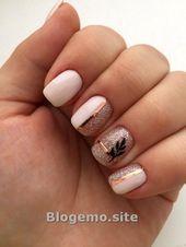 Winter Nails Art Design-Ideen – Kurze Nägel – Blogemo – #blogemo #design #idea …   – Winter Nails Designs