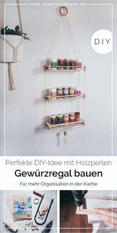 [Anzeige] DIY Gewürzregal bauen aus Holz mit COSY
