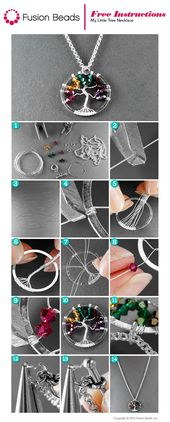 My little tree necklace inspiration project – jewelry making9.tk   Jewelry Diy