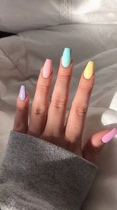123 nail designs and ideas for coffin acrylic nails -page 15 > Homemytri.Com