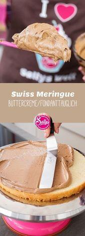 Die Schweizer Baiser Buttercreme ist vielseitig und einfach im Haushalt zu verwenden. – Торты