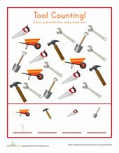 Preschool Math Worksheets Counting Tools Construction Activities Preschool Construction Theme Preschool Preschool Construction Tools
