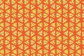 Pepperoni Pizza Lover Pattern (Kunstdrucke, Holz- & Metallschilder, Leinwand, Einkaufstasche, Handtuch)