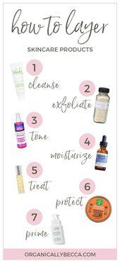 Wie bewerbe ich mich Hautpflegeprodukte effektiv (Arbeiten mit Sara Of …   – Haut