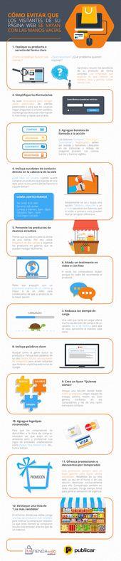 Cómo evitar que los visitantes de su sitio web queden vacíos #infografia #ecommerce #marketing   – Infografías