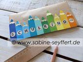 """Bastelidee & DIY zum Schulstart: Geschenke zur Einschulung wunderschön verpackt """"Buntstifte"""" # …"""