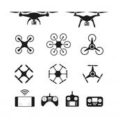 Set of aerial drone or quadcopter and re… | Premium Vector #Freepik #vector #business #technology #icon