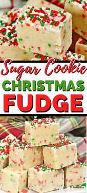 Sugar Cookie Christmas Fudge