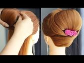 Latest Hair Style Girl 2020 For Party And Wedding   Easy Bun Hairstyles With Trick