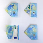 Banknoten falten sich wie ein Schmetterling   – Basteln