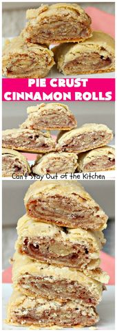 Pie Crust Zimtschnecken – Cinnamon Rolls