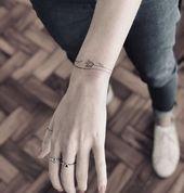 Modèle de tatouage 43+ manchette qui peut être fait dans le style de bracelet – Tatoeage