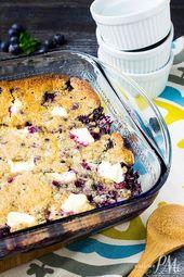 Blueberry Cream Cheese Dump Cake muss der einfachste Kuchen der Welt sein, um …
