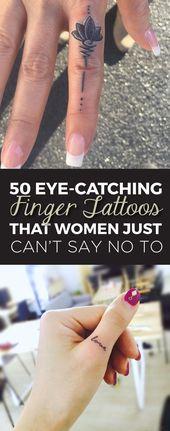 50 bellissimi tatuaggi sulle dita a cui le donne non sanno proprio di no