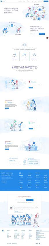 Web Design Example | A page on intercom.io | Crayon