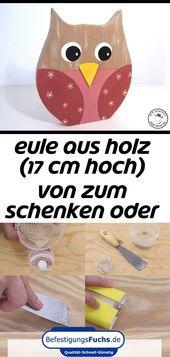 Hölzerne Eule (17 cm hoch) von donate or keep on dawanda.com 1   – ideen